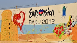 Plakat für den 57. Eurovision Song Contest in Baku © imago stock&people
