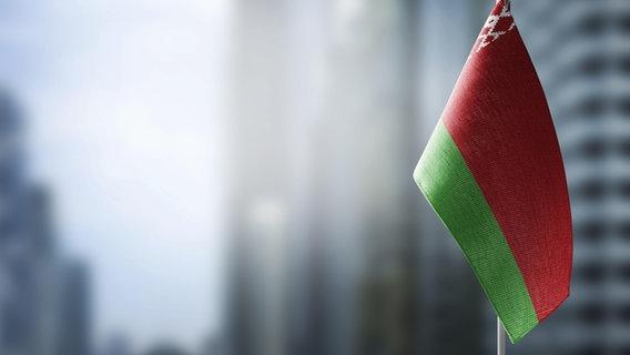 Eine belarusische Fahne © picture alliance / Zoonar Foto:  BUTENKOV ALEKSEY