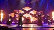 Die Band Faun probt in Hannover für den deutschen Vorentscheid auf der Bühne © NDR Fotograf: Rolf Klatt
