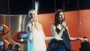 """ABBA bei einem Auftritt in der Fernsehshow """"disco"""" im ZDF © KPA Fotograf: Dieter Klar"""