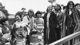 Abba zu Besuch in Japan (1980) © picture-alliance / Expressen Foto: Per Kagrell
