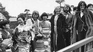 Abba zu Besuch in Japan (1980) © picture-alliance / Expressen Fotograf: Per Kagrell