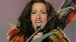 Dana International beim Eurovision Song Contest 1998.