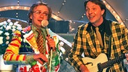Olli Dittrich mit Wigald Boning 1995 © dpa Fotograf: Stefanie Pilick