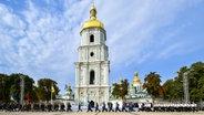 Der Sofiyskaya Square in der ukrainischen Hauptstadt Kiew © dpa Fotograf: Nikolay Lazarenko