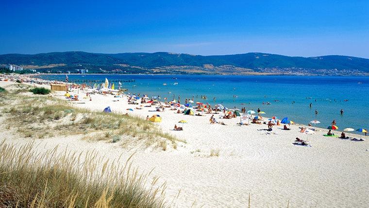 Blick auf den Strand an der südlichen Schwarzmeerküste Bulgariens. © picture-alliance / Bildagentur Huber Fotograf: R. Schmid