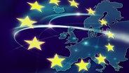 Landkarte Europas und gelbe Sterne © Fotolia.com Fotograf: vaso