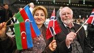 ESC-Finale 2010: Fans aus Aserbaidschan