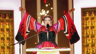 Netta auf der Bühne in Lissabon. © eurovision.tv Fotograf: Andres Putting