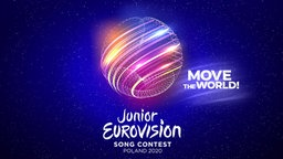 "Das Logo des Junior Eurovision Song Contest 2020 mit dem Slogan ""Move The World"".  Foto: EBU/TVP"