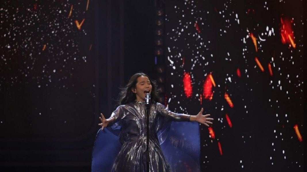 Karakat Bashanova singt für Kasachstan beim Junior ESC