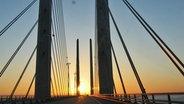 Die Öresundbrücke verbindet Dänemark und Schweden © NDR Fotograf: Oliver Klebb