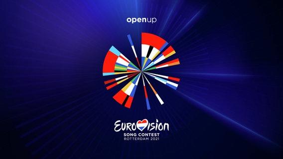 Das Logo des Eurovision Song Contest 2021 in Rotterdam.  Foto: NPO/NOS/AVROTROS