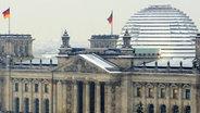 Der Reichstag im Schnee