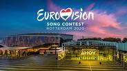 Das Logo des Eurovision Song Contest 2020 über dem Ahoy Rotterdam.  Foto: Paul Barendregt