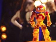 Ein Roboter auf der Bühne in Lissabon. © eurovision.tv Fotograf: Andres Putting