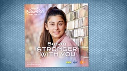 "Das Cover der Single ""Stronger With You"" von Deutschlands Junior-ESC-Kandidatin Susan. © NDR/KiKA/ZDF Foto: Christine Musics"