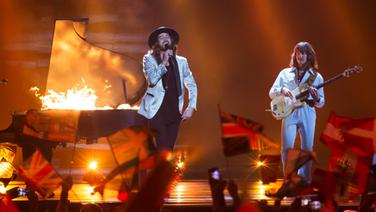 The Makemakes beim ESC in Wien. © Rolf Klatt / NDR Foto: NDR