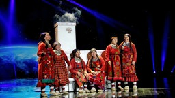 "Buranowski Babuschki aus Russland mit dem Song ""Party For Everybody!"". © Eurovision TV Fotograf: Elke Roels"