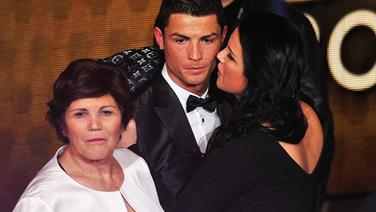 Cristiano Ronaldo und seine Schwester Katia Aveiro bei der Fifa World Player ...