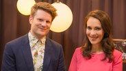Die Songcheck-Moderatoren Stefan Spiegel und Alina Stiegler.
