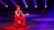 Die Sängerin Ann Sophie probt in Hannover auf der Bühne für den ESC-Vorentscheid © NDR Foto: Rolf Klatt