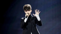 "Für Bulgarien tritt Kristian Kostov mit ""Beautiful Mess"" an. © Eurovision.tv Foto: Thomas Hanses"
