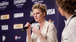 Levina im Backstage-Bereich in Kiew. © Eurovision.tv Fotograf: Thomas Hanses