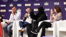 Francesco Gabbani im Backstage-Bereich im Messezentrum in Kiew. © Eurovision.tv Foto: Andres Putting
