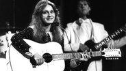 Nicole singt beim Grand Prix de la Chanson d'Eurovision im britischen Harrogate 1982 - und holt den ersten Sieg für Deutschland.  Fotograf: Lehtikuva Oy