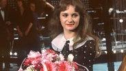Nicole nach ihrem Sieg beim deutschen Vorentscheid im März 1982.  Fotograf: Frank Mächler