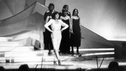 Die Sängerin Paola auf der Bühne beim ESC 1980 in Den Haag © EBU