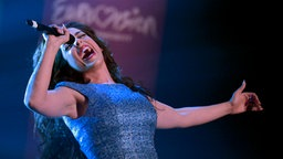 Die Spanierin Ruth Lorenzo bei Eurovision in Concert in Amsterdam © NDR Foto: Patricia Batlle
