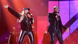 "Valentina Monetta & Jimmie Wilson performen""Spirit Of The Night"" auf der ESC-Bühne © eurovision.tv Foto: Thomas Hanses"