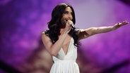 Conchita Wurst auf der Bühne beim deutschen ESC-Vorentscheid. © NDR Fotograf: Rolf Klatt