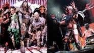Zum Verwechseln ähnlich: Lordi (links) und Gwar (rechts). © picture alliance / Jazz Archiv