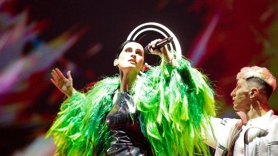 Sängerin Kateryna Pawlenko von Go_A (Ukraine) auf der Bühne. © EBU Foto: Thomas Hanses