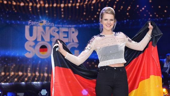 """Levina gewinnt den Vorentscheid zum Eurovision Song Contest """"Unser Song 2017"""" mit Perfect Life © Brainpool / Willi Weber Foto: Willi Weber"""