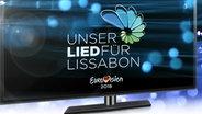 """Offizielles Logo für den deutschen ESC-Vorentscheid """"Unser Lied für Lissabon"""" © NDR"""