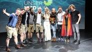 Alle Teilnehmer des Vorentscheids im Studio in Berlin. © NDR Fotograf: Big Sun