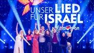 Die Teilnehmer des Vorentscheids 2019 auf der Bühne in Berlin.  Foto: Julian Rausche